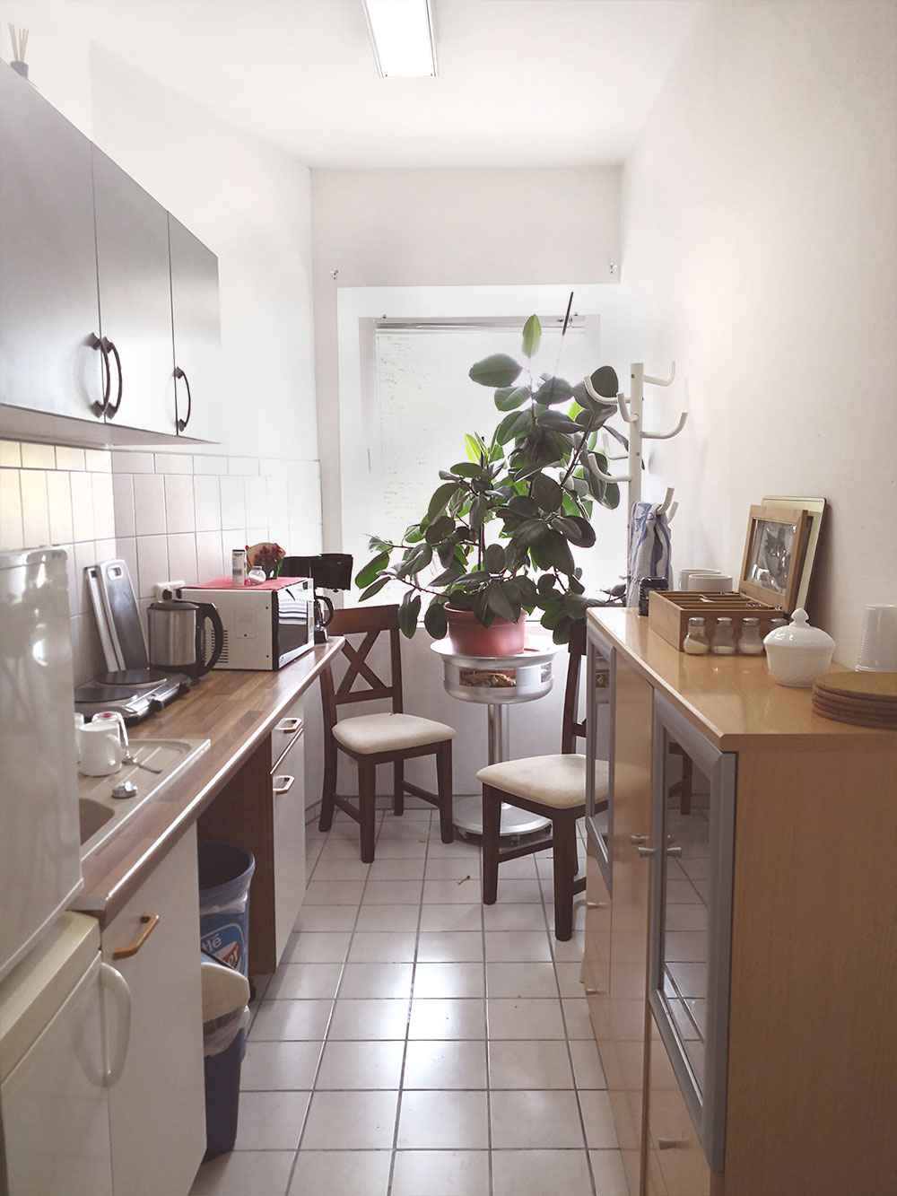 Küche in einer Ferienwohnung